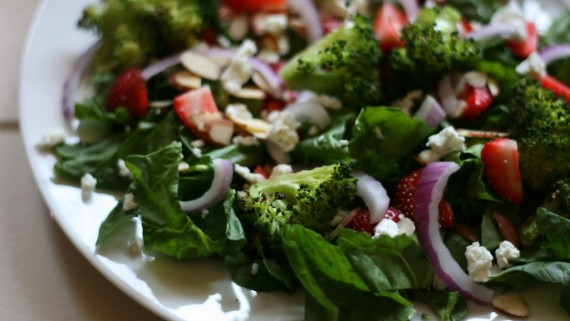 Broccoli-Strawberry-Salad-and-Creamy-Red-Potato-Salad-Windmill-Farms ...