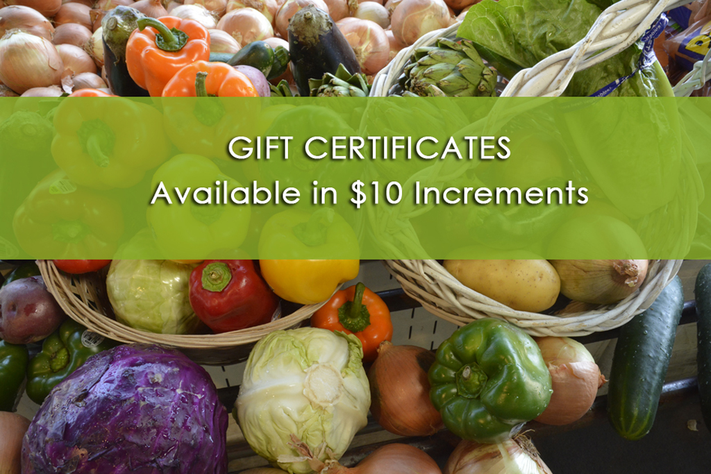 Windmill Farms Produce | Gift Certificates